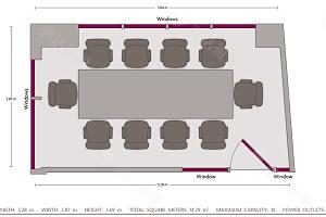 商务中心会议室平面图