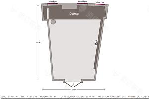 汉堡厅平面图