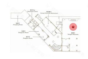 松鹤厅平面图