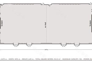 皇冠大宴会厅平面图