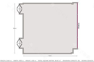 会议室6平面图