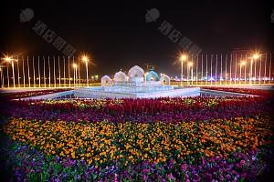 宁夏国际会堂外夜景