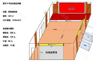 豪华9号会议室平面图