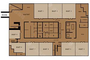 会议厅平面图