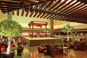 上海卓美亚喜玛拉雅酒店会议场地-大堂戏台
