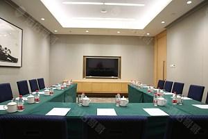 50平会议室-U型台-绿布草