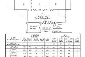 景阁宴会厅平面图